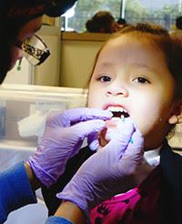 Girl Getting Her Teeth Worked On